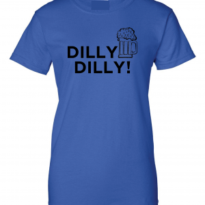 Dilly Dilly Beer, Royal Blue/Black, Women's Cut T-Shirt