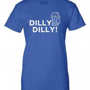 Dilly Dilly Beer, Royal Blue/White, Women's Cut T-Shirt