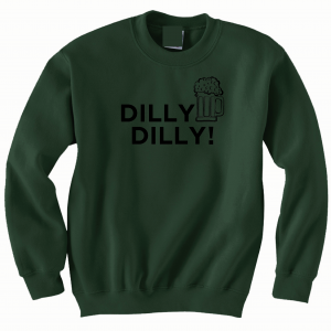 Dilly Dilly Beer, Forest/Black, Crew Sweatshirt