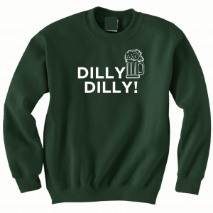 Dilly Dilly Beer, Forest/White, Crew Sweatshirt