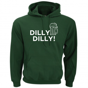 Dilly Dilly Beer, Forest/White, Hoodie