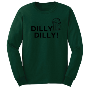 Dilly Dilly Beer, Forest/Black, Long-Sleeved