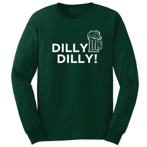 Dilly Dilly Beer, Forest/White, Long-Sleeved