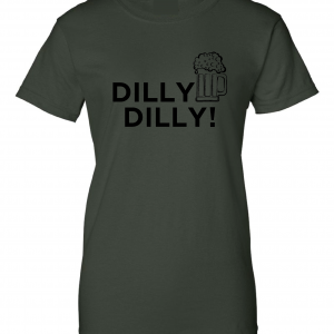 Dilly Dilly Beer, Forest/Black, Women's Cut T-Shirt