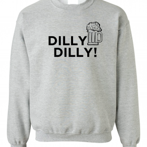 Dilly Dilly Beer, Royal Grey/Black, Crew Sweatshirt