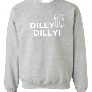 Dilly Dilly Beer, Royal Grey/White, Crew Sweatshirt