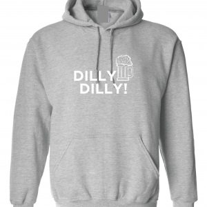 Dilly Dilly Beer, Royal Grey/White, Hoodie