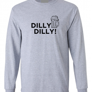 Dilly Dilly Beer, Royal Grey/Black, Long-Sleeved