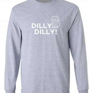 Dilly Dilly Beer, Grey/White, Long-Sleeved