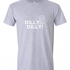 Dilly Dilly Beer, Grey/White, T-Shirt