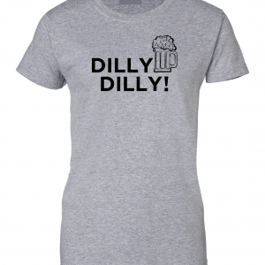 Dilly Dilly Beer, Royal Grey/Black, Women's Cut T-Shirt
