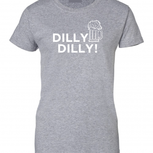 Dilly Dilly Beer, Royal Grey/White, Women's Cut T-Shirt