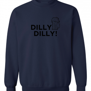 Dilly Dilly Beer, Navy/Black, Crew Sweatshirt