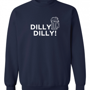 Dilly Dilly Beer, Navy/White, Crew Sweatshirt