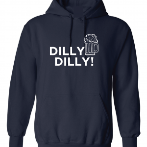 Dilly Dilly Beer, Navy/White, Hoodie