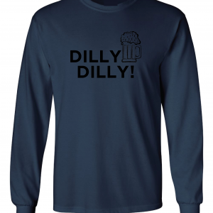 Dilly Dilly Beer, Navy/Black, Long-Sleeved