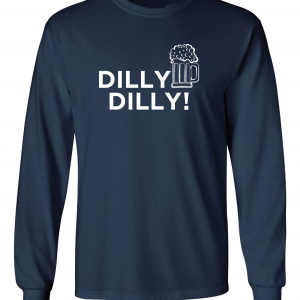 Dilly Dilly Beer, Navy/White, Long-Sleeved