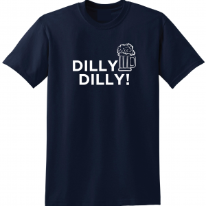 Dilly Dilly Beer, Navy/White, T-Shirt