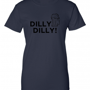 Dilly Dilly Beer, Navy/Black, Women's Cut T-Shirt