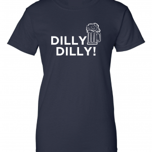 Dilly Dilly Beer, Navy/White, Women's Cut T-Shirt