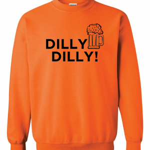 Dilly Dilly Beer, Orange/Black, Crew Sweatshirt