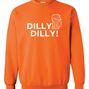 Dilly Dilly Beer, Orange/White, Crew Sweatshirt