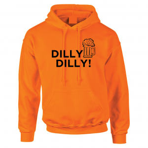 Dilly Dilly Beer, Orange/Black, Hoodie