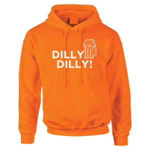 Dilly Dilly Beer, Orange/White, Hoodie