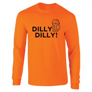 Dilly Dilly Beer, Orange/Black, Long-Sleeved