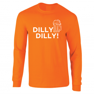 Dilly Dilly Beer, Orange/White, Long-Sleeved