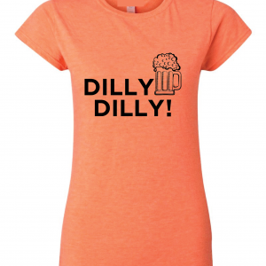 Dilly Dilly Beer, Orange/Black, Women's Cut T-Shirt