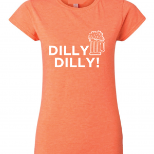 Dilly Dilly Beer, Orange/White, Women's Cut T-Shirt