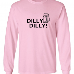 Dilly Dilly Beer, Pink/Black, Long-Sleeved