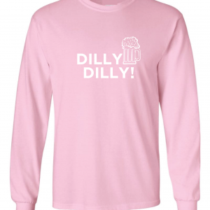 Dilly Dilly Beer, Pink/White, Long-Sleeved