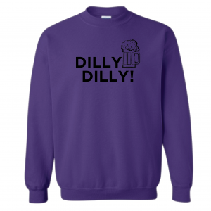 Dilly Dilly Beer, Purple/Black, Crew Sweatshirt
