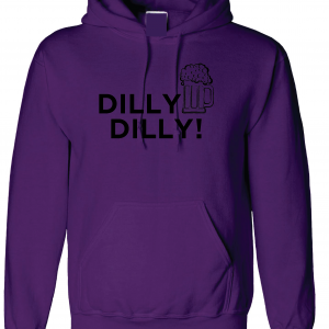 Dilly Dilly Beer, Purple/Black, Hoodie
