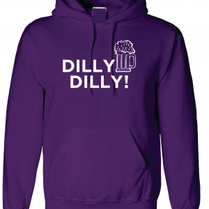 Dilly Dilly Beer, Purple/White, Hoodie