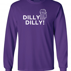 Dilly Dilly Beer, Purple/White, Long-Sleeved