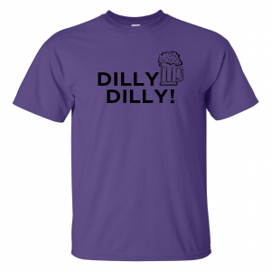 Dilly Dilly Beer, Purple/Black, T-Shirt