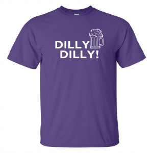 Dilly Dilly Beer, Purple/White, T-Shirt