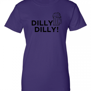Dilly Dilly Beer, Purple/Black, Women's Cut T-Shirt