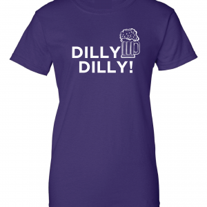 Dilly Dilly Beer, Purple/White, Women's Cut T-Shirt