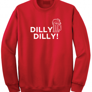 Dilly Dilly Beer, Red/White, Crew Sweatshirt