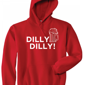 Dilly Dilly Beer, Red/White, Hoodie