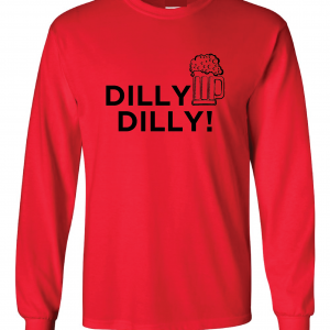 Dilly Dilly Beer, Red/Black, Long-Sleeved