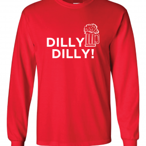 Dilly Dilly Beer, Red/White, Long-Sleeved