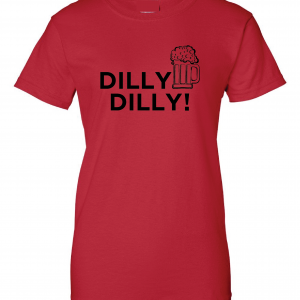 Dilly Dilly Beer, Red/Black, Women's Cut T-Shirt