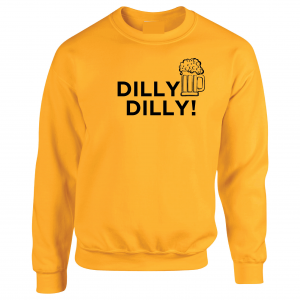 Dilly Dilly Beer, Yellow/Black, Crew Sweatshirt