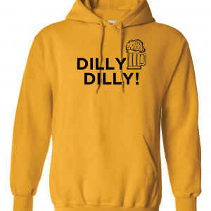 Dilly Dilly Beer, Yellow/Black, Hoodie
