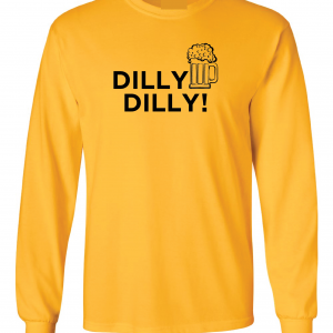 Dilly Dilly Beer, Yellow/Black, Long-Sleeved